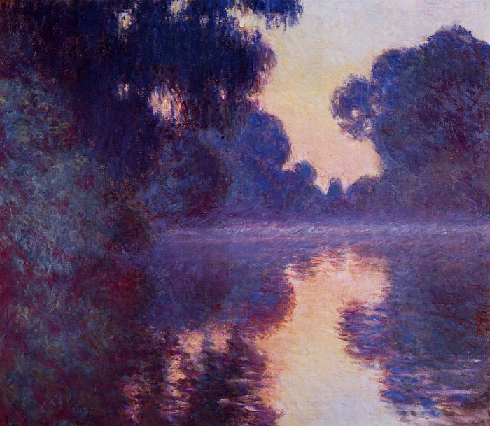 Claude Oscar Monet  Reproductions-Arm of the Seine near Giverny at Sunrise , 1897