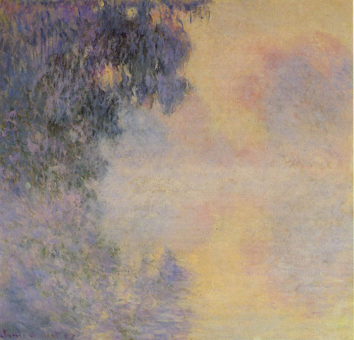 Claude Oscar Monet  Reproductions-Arm of the Seine near Giverny in the Fog, 1897
