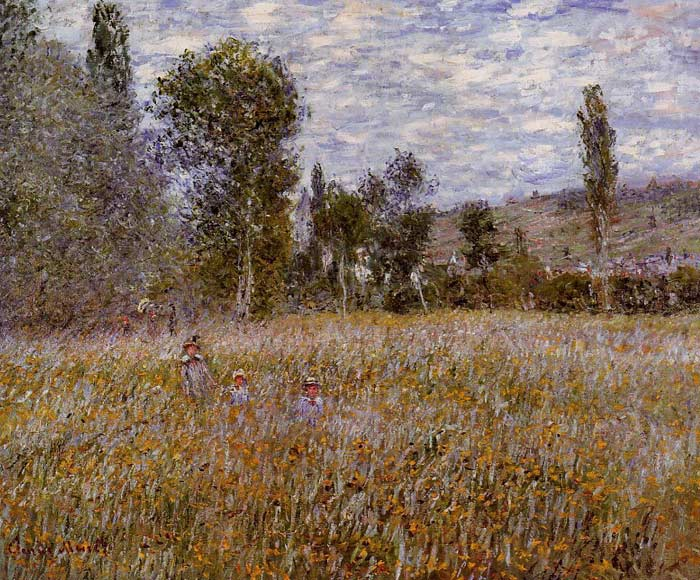 A Meadow , 1879	 Monet, Claude Oscar Painting Reproductions