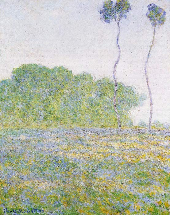 Claude Oscar Monet  Reproductions-A Meadow at Giverny , 1894