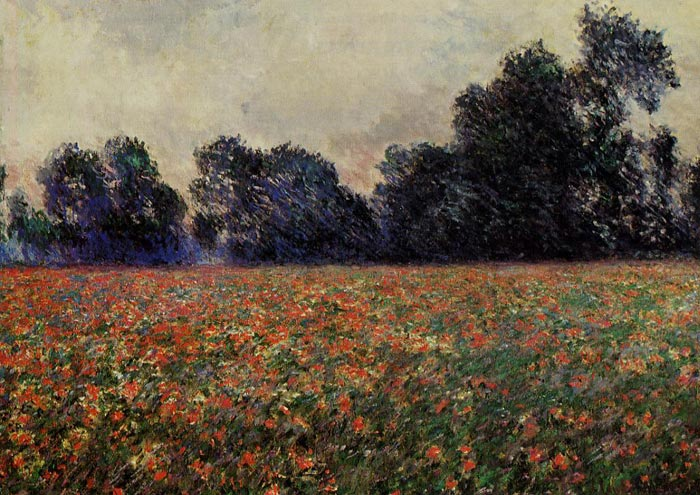 Claude Oscar Monet  Reproductions-Poppies at Giverny, 1887