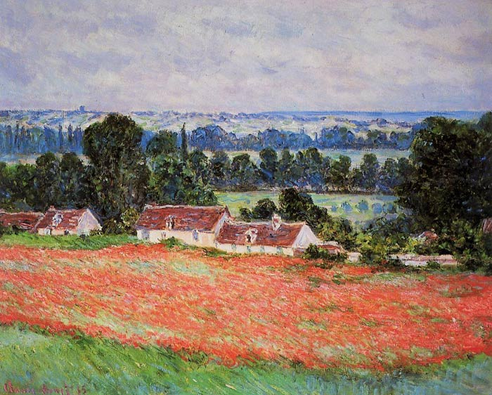 Claude Oscar Monet  Reproductions-Poppy Field at Giverny , 1885