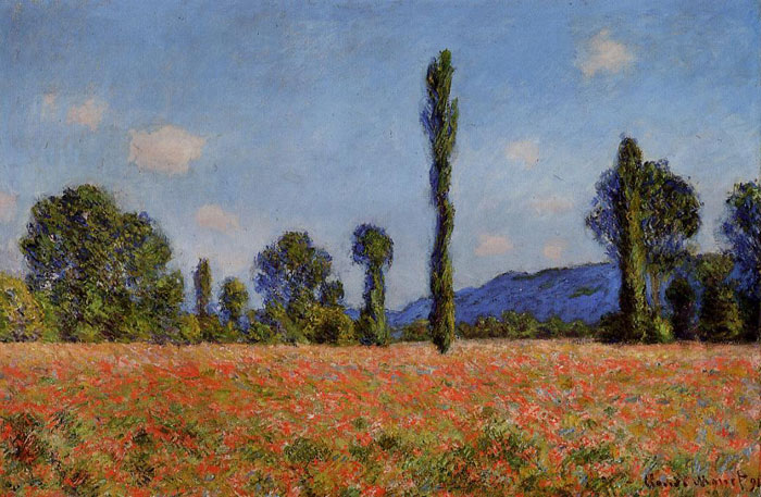 Claude Oscar Monet  Reproductions-Poppy Field , 1890