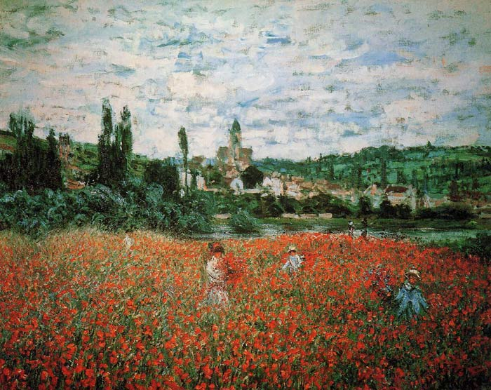 Paintings Reproductions Monet, Claude Oscar Poppy Field near Vetheuil , 1879