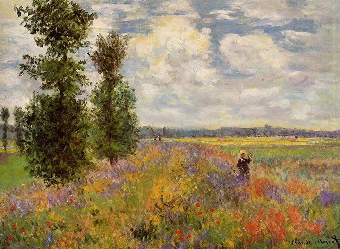 Claude Oscar Monet  Reproductions-Poppy Field, Argenteuil , 1875