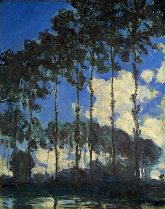 Claude Oscar Monet  Reproductions-Poplars on the Banks of the Epte, 1891