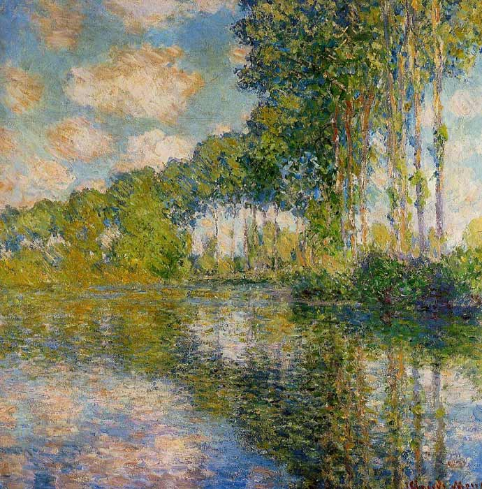 Claude Oscar Monet  Reproductions-Poplars on the Banks of the River Epte, 1891
