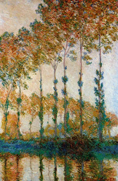 Claude Oscar Monet  Reproductions-Poplars on the Banks of the River Epte in Autumn, 1891