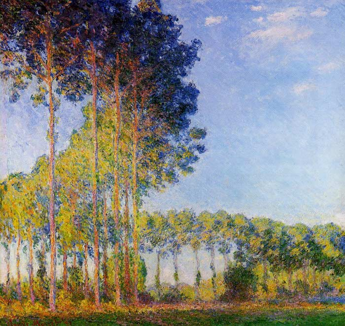 Claude Oscar Monet  Reproductions-Poplars on the Banks of the River Epte, Seen from the Marsh , 1891