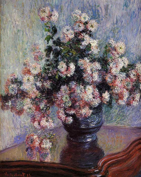 Paintings Reproductions Monet, Claude Oscar Chrysanthemums , 1880