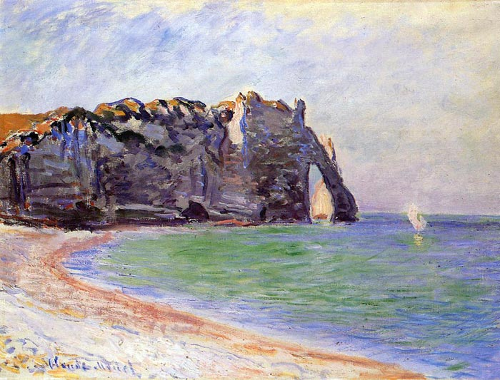 Claude Oscar Monet  Reproductions-Etretat, the Porte d' Aval , 1885