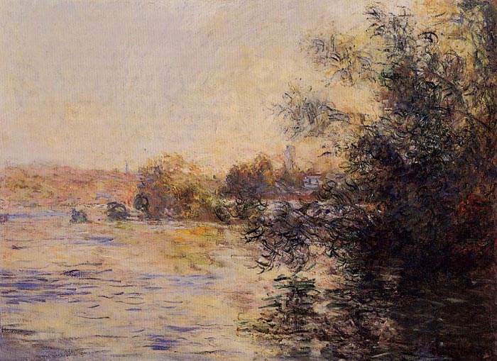 Paintings Reproductions Monet, Claude Oscar Evening Effect of the Seine, 1881