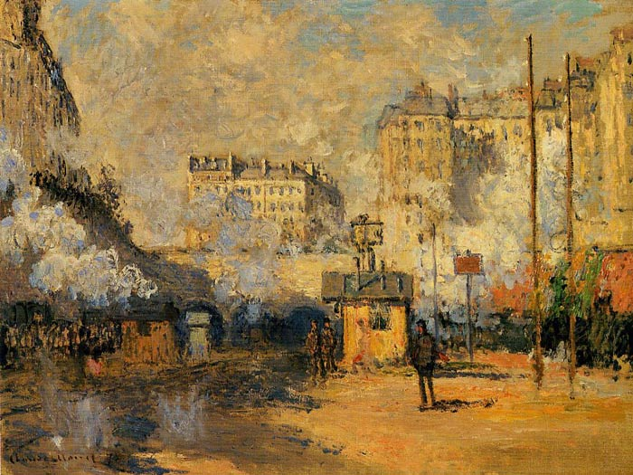 Paintings Reproductions Monet, Claude Oscar Exterior of Saint-Lazare Station, Sunlight Effect , 1877