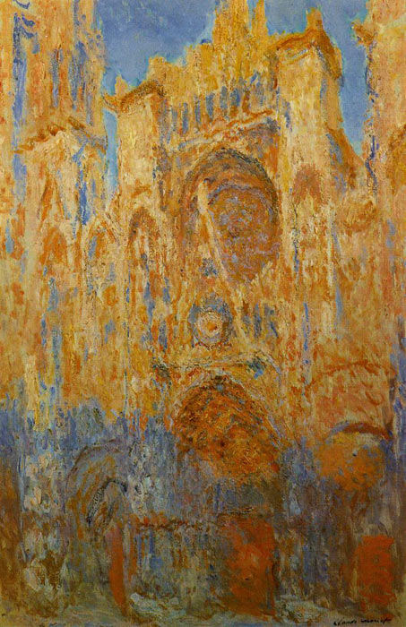 Paintings Reproductions Monet, Claude Oscar Rouen Cathedral at the End of Day, Sunlight Effect , 1892