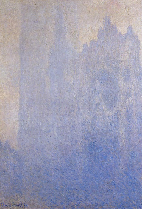 Paintings Reproductions Monet, Claude Oscar Rouen Cathedral in the Fog , 1893