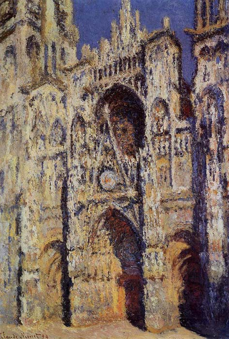 Paintings Reproductions Monet, Claude Oscar Rouen Cathedral, the Portal and the Tour d' Albane, Full Sunlight , 1893