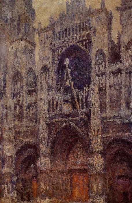 Paintings Reproductions Monet, Claude Oscar Rouen Cathedral, the Portal, Grey Weather , 1892