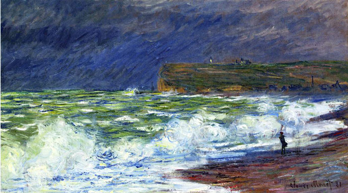 Claude Oscar Monet  Reproductions-The Beach at Fecamp , 1881