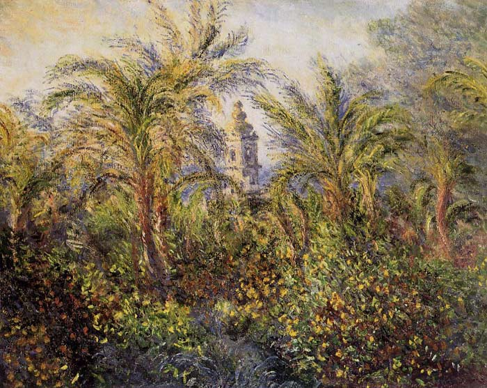 Paintings Reproductions Monet, Claude Oscar Garden in Bordighera, Morning Effect , 1884