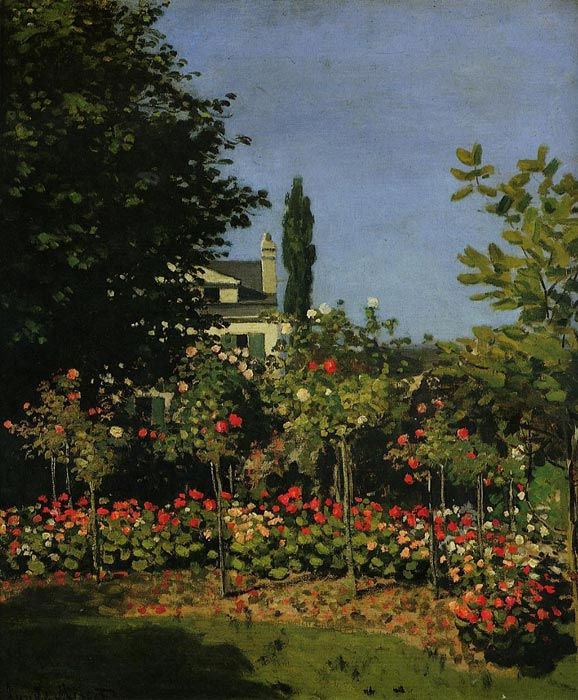 Paintings Reproductions Monet, Claude Oscar Garden in Flower , 1866