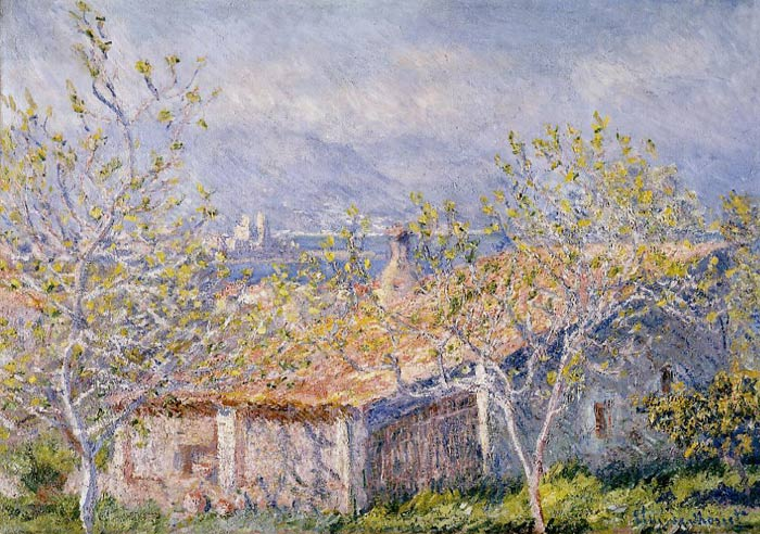 Claude Oscar Monet  Reproductions-Gardener's House at Antibes , 1888