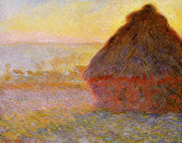 Paintings Reproductions Monet, Claude Oscar Grainstack at Sunset, 1891