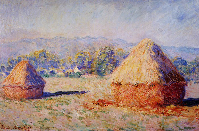 Paintings Reproductions Monet, Claude Oscar Grainstacks in the Sunlight, Morning Effect, 1890