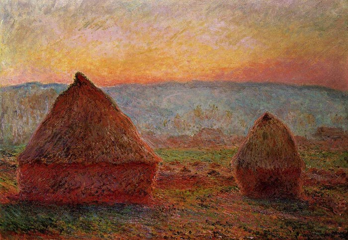 Paintings Reproductions Monet, Claude Oscar Grainstacks, Sunset , 1888