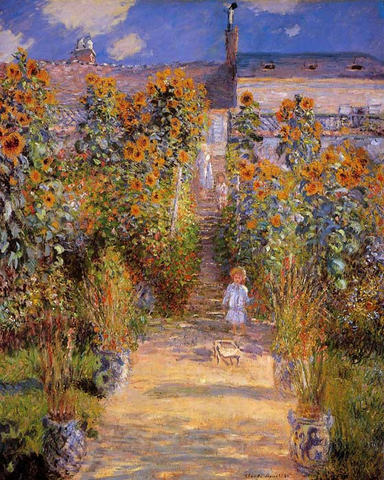 Paintings Reproductions Monet, Claude Oscar Monet's Garden at Vetheuil , 1881