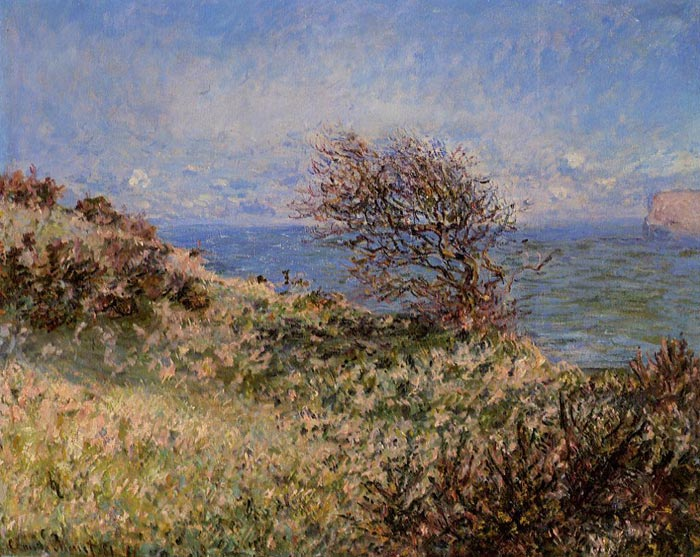 Claude Oscar Monet  Reproductions-On the Cliff at Fecamp , 1881