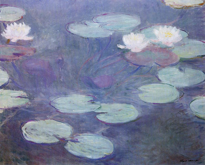 Paintings Reproductions Monet, Claude Oscar Pink Water-Lilies , 1897