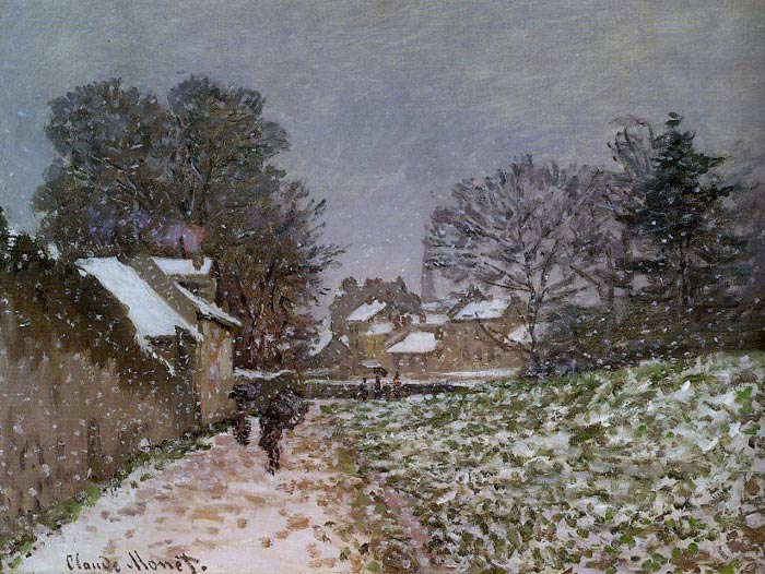 Paintings Reproductions Monet, Claude Oscar Snow at Argenteuil , 1874