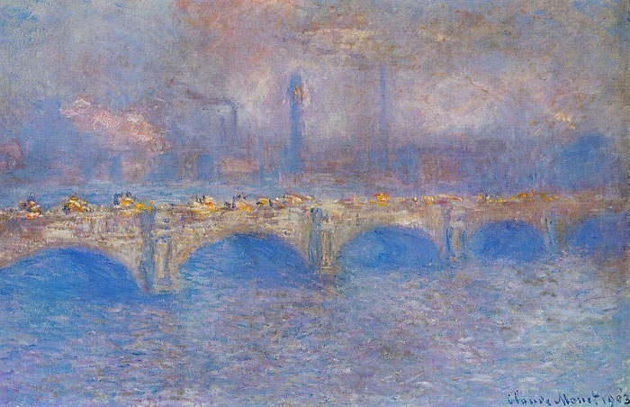 Claude Oscar Monet  Reproductions-Waterloo Bridge, Sunlight Effect , 1899
