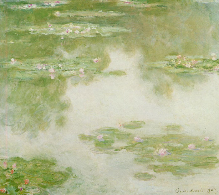 Paintings Reproductions Monet, Claude Oscar Water-Lilies , 1907