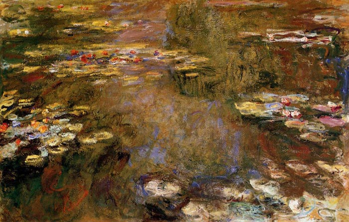 Claude Oscar Monet  Reproductions-The Water-Lily Pond , 1917