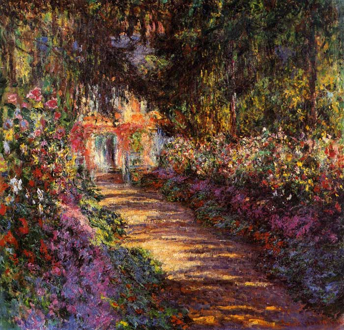 Claude Oscar Monet  Reproductions-The Flowered Garden , 1900