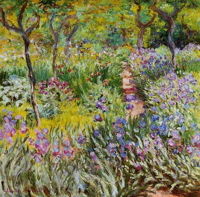 Claude Oscar Monet  Reproductions-The Iris Garden at Giverny, 1899