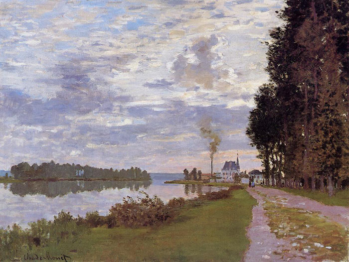 Claude Oscar Monet  Reproductions-The Promenade at Argenteuil , 1872
