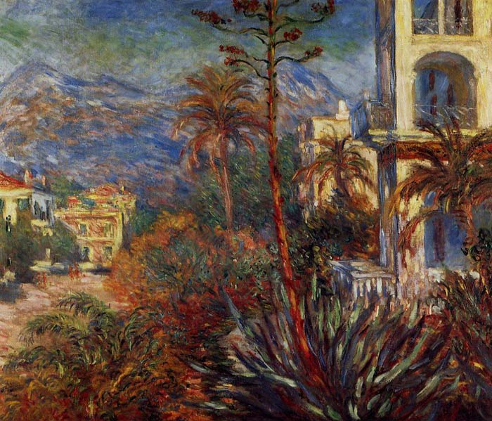 Claude Oscar Monet  Reproductions-Villas at Bordighera, 1884