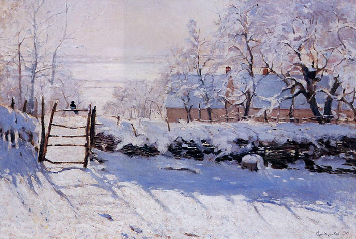 Claude Oscar Monet  Reproductions-The Magpie, 1869