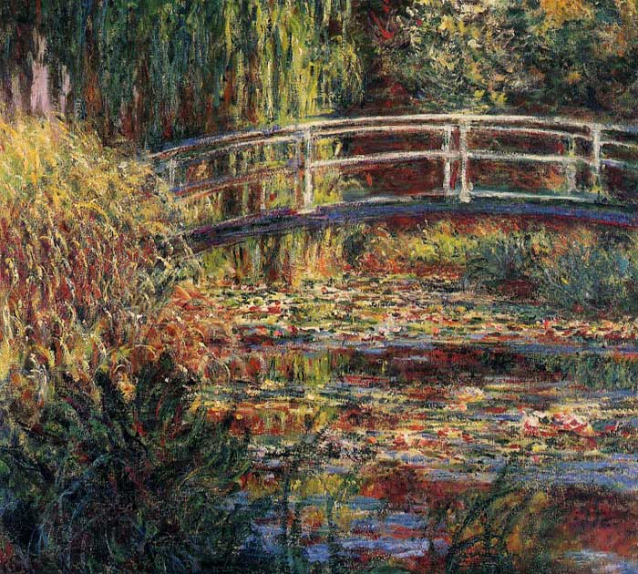Paintings Reproductions Monet, Claude Oscar Water-Lily Pond, Symphony in Rose , 1900