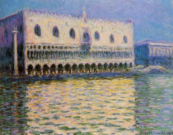 Claude Oscar Monet  Reproductions-The Doge's Palace at Venice