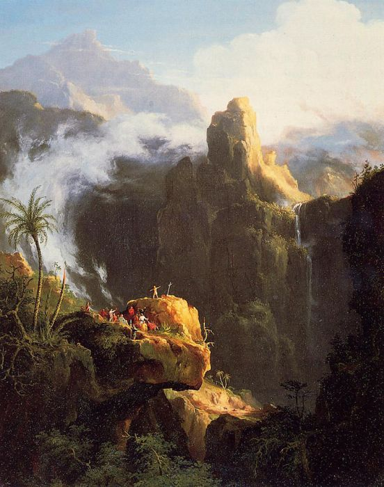 Thomas Cole Reproductions-Saint John in the Wilderness, 1827