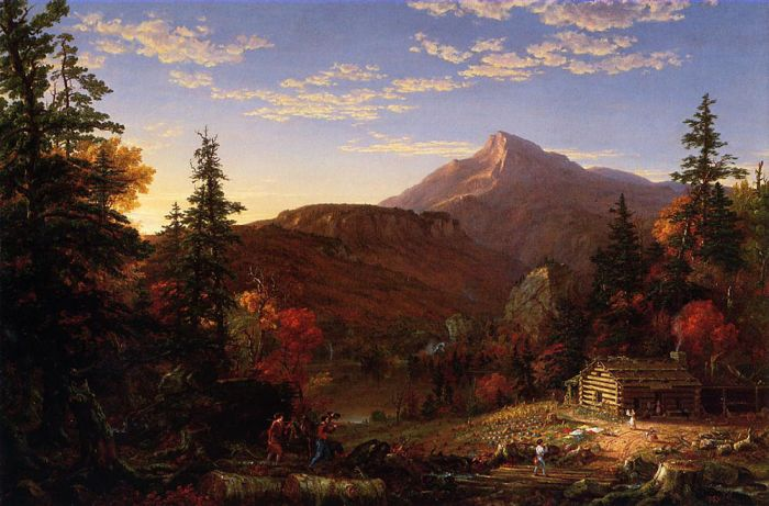 Paintings Reproductions Cole, Thomas The Hunter's Return, 1845