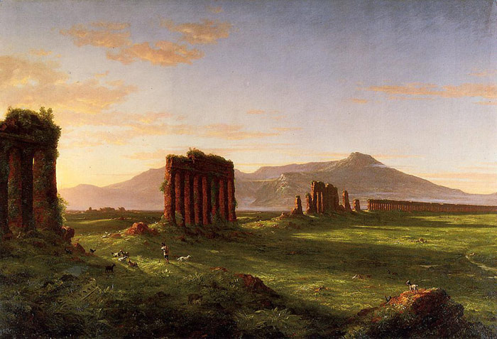 Thomas Cole Reproductions-Roman Campagna, 1843