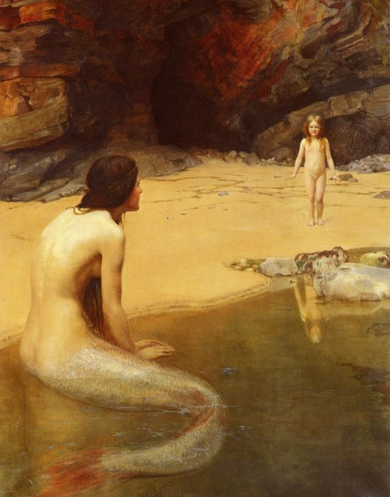 John Collier Reproductions-The Land Baby, 1909