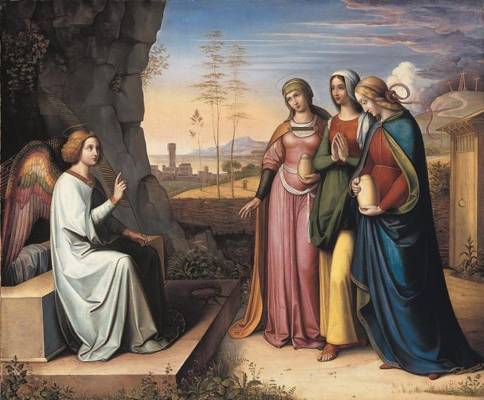 Peter von Cornelius Reproductions-The three Marys at the Tomb, 1822