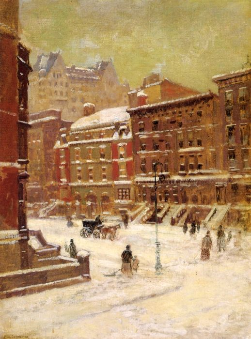 Paintings Reproductions Cornoyer, Paul New York City View in Winter