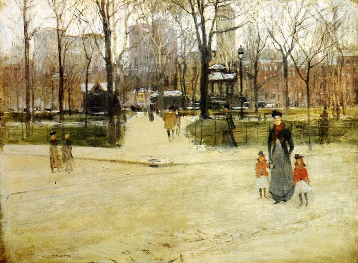 Paintings Reproductions Cornoyer, Paul Washington Square