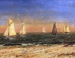 Paintings Reproductions Cropsey, Jasper Francis A Study at Long Beach, 1882